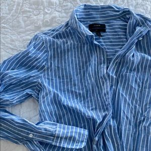 J.crew blue stripe button down